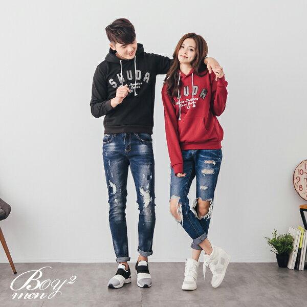 ☆BOY-2☆ 【NR95079】情侶休閒SHUDA連帽T恤 2