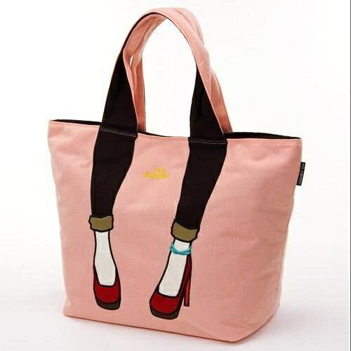 【真愛日本】日本Mis Zapatos 大手提肩背美腿包-粉紅 高跟鞋包 日本爆紅熱銷款 預購