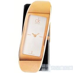 CK 手錶 K3C236G6 Calvin Klein表現自我 白面玫瑰金框 咖啡皮帶 女錶【錶飾精品】