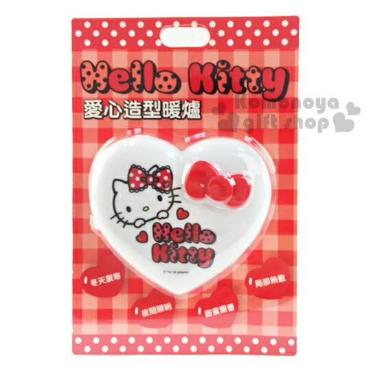 加購免運↘$299〔小禮堂〕Hello Kitty 愛心造型暖蛋《白.紅蝴蝶結.大臉》附LED照明小燈