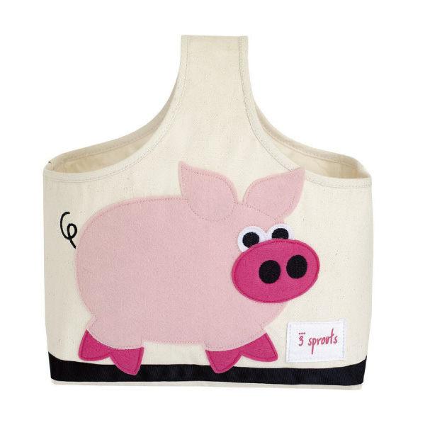 加拿大 3 Sprouts 手提收納包-粉紅豬【 貨】好窩 節