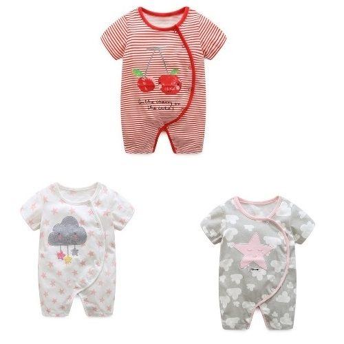 嬰兒短袖連身衣春夏兔裝寶寶童裝LZ22351好娃娃