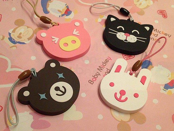 =優生活=韓國文具 可愛動物小吊飾 小熊/小豬/小貓咪/兔兔吊飾