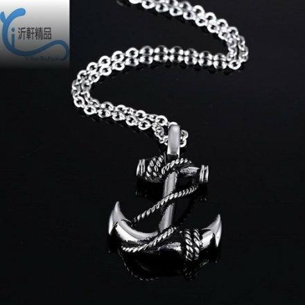 加勒比海盜船船錨 不銹鋼 項鍊 吊墜  配飾 男項鍊 海軍風 鈦鋼 沂軒 F0060