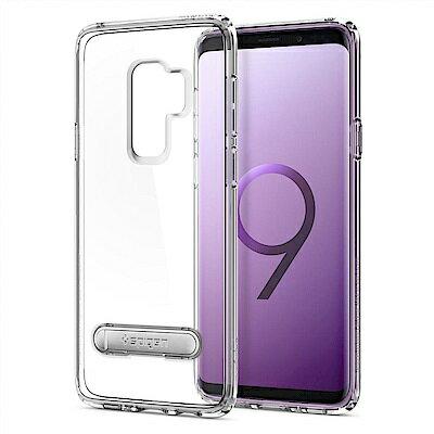 【Spigen】GalaxyS9+UltraHybridS複合式立架邊框透明保護殼透明黑