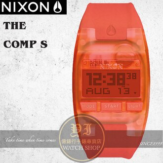 NIXON 實體店The COMP S浪花潮流腕錶ALL BRIGHT CORAL公司貨A336-2040/極限運動