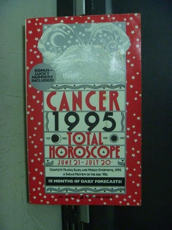 【書寶二手書T5/原文小說_OGN】CANCER 1995 TOTAL HOROSCOPE_1994