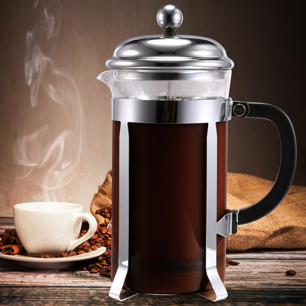 Stainless steel French coffee pot 1000ml 0
