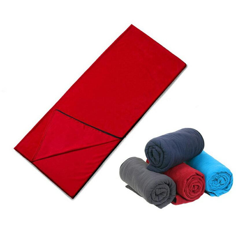 【露營趣】中和 TNR-140 全開信封式抓絨增溫睡袋內膽 睡袋內套 刷毛睡袋 刷毛毯 纖維睡袋 羽絨睡袋可用