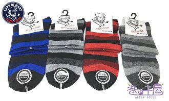【巷子屋】SINA COVA老船長 條紋款寬口無痕運動襪 綿襪 MIT台灣製造 不挑色 超值價$25