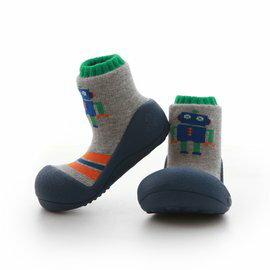 【淘氣寶寶】韓國【Attipas】快樂腳襪型學步鞋-機器人系列(藍底) M