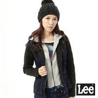 牛仔外套推薦到Lee 附帽外套 假兩件牛仔可拆設計 -女款(牛仔藍)就在Lee Jeans tw推薦牛仔外套