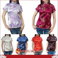 復古中國風 繡花旗袍 唐裝短袖上衣