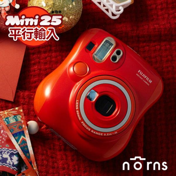 NORNS【紅色限定版Mini25】FujifilmInstax富士拍立得相機平行輸入保固一年限量聖誕節新年