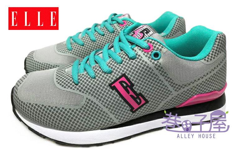 【巷子屋】ELLE 女款記憶鞋墊康特杯復古運動慢跑鞋 [52218] 灰 超值價$498