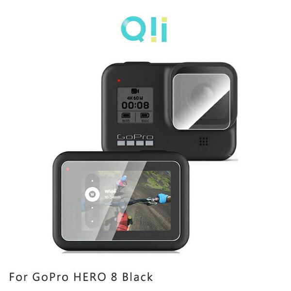 【愛瘋潮】Qii GoPro HERO 8 Black 玻璃貼(鏡頭+螢幕)