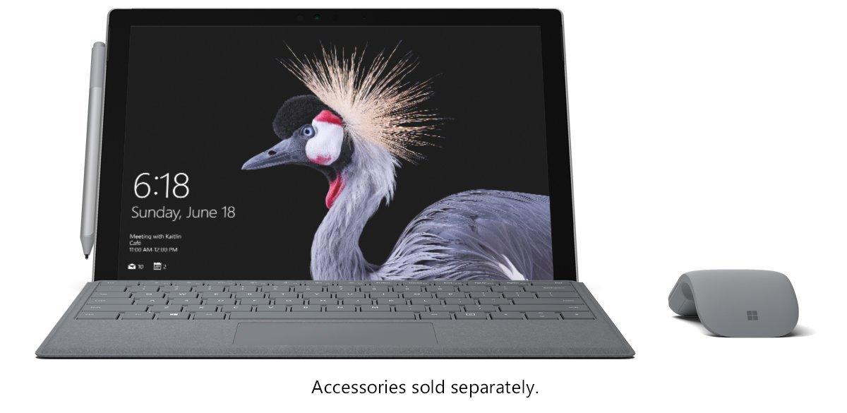 Microsoft Surface Pro, Model 1796 (FKG-00001) Intel i7, 8GB RAM, 256GB SSD,  12 3inch PixelSense Multi-Touch, Win10 Pro