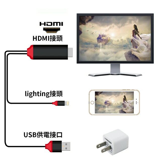 Lightning to HDMI 影音傳輸線-2米 For iPhone iPad(IOS版本更新沒問題)