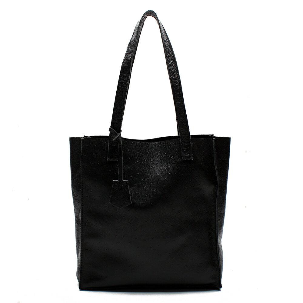【BEIBAOBAO】氣質名媛牛皮壓紋肩背包(共兩色:  氣質黑) 1