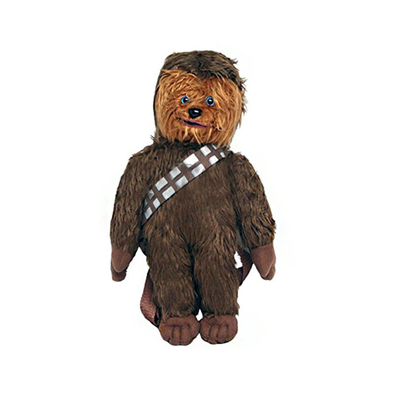 "Star Wars ""Chewbacca"" Plush Backpack Kids Bag with Zipper Pouch 0"