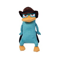 Disney - Agent P Plush Backpack Kids Bag with Zipper Pouch