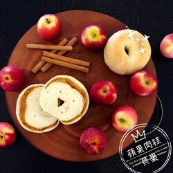 《Milky Cookie》蘋果肉桂貝果    1入