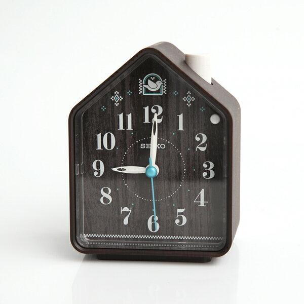 鬧鐘 SEIKO深咖小屋造型鬧鐘【NV18】柒彩年代