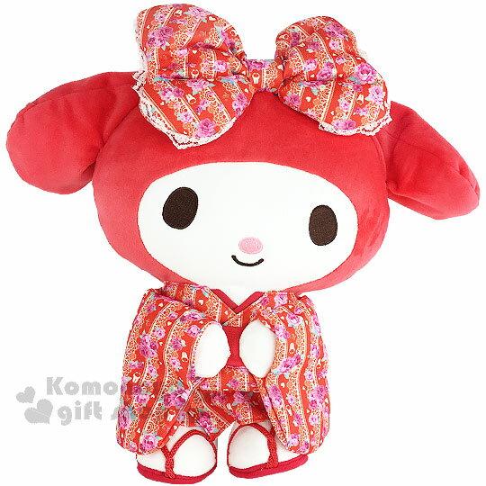 <br/><br/>  〔小禮堂〕美樂蒂 造型絨毛玩偶娃娃《L.站姿.紅和服.玫瑰.蕾絲》<br/><br/>