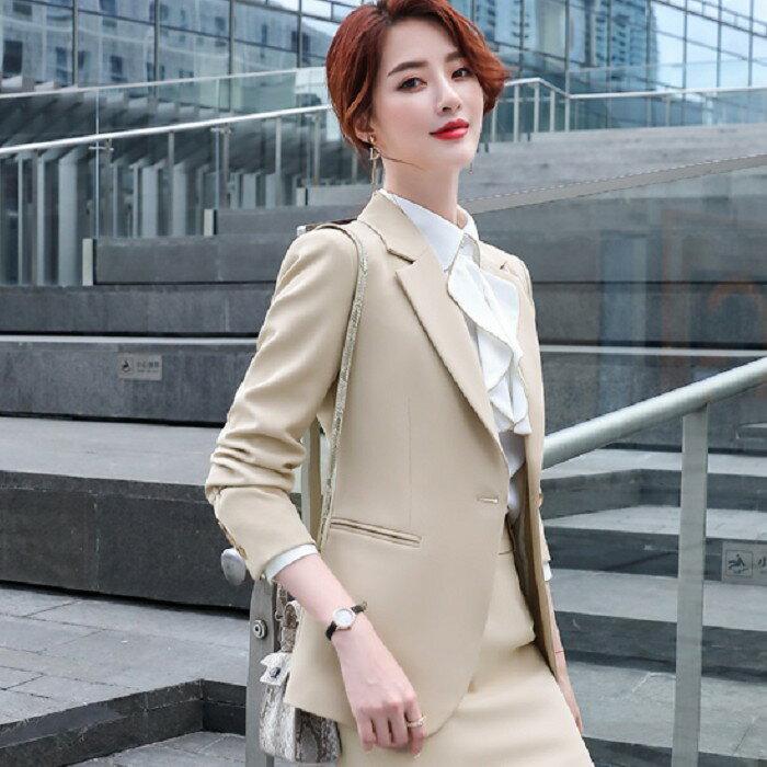 酒紅美艷新型挺直秋冬西裝外套[20X303-PF]灰姑娘