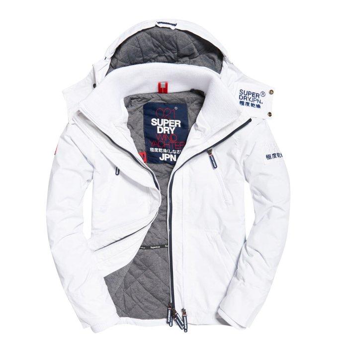 極度乾燥 Superdry Wind Yachter 男士風衣戶外休閒外套 防水防風 白色/灰色