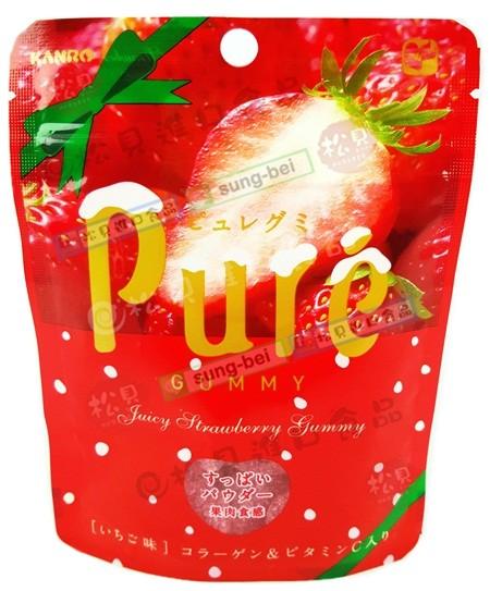 甘樂Pure草莓軟糖56g【4901351077764】