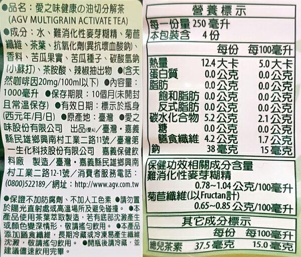 12 / 7(五)12:00準時開賣★限量50組★愛之味 分解茶 沖繩山苦瓜(無糖) 1000ml (12入) / 箱 2