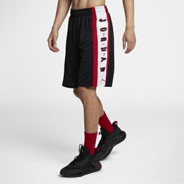 NIKEJORDANRISE男裝短褲籃球休閒柔軟透氣黑紅【運動世界】924567-010