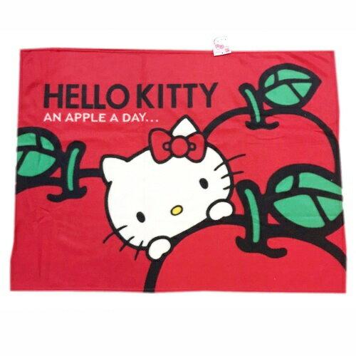 【唯愛日本】15013100006 刷毛毯75*100-蘋果多多 三麗鷗 Hello Kitty 凱蒂貓 毯子 被子 正品