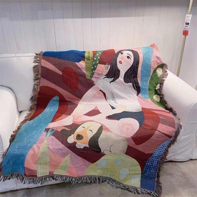 沙發毯 簡約現代小清新雙面沙發巾沙發蓋布毯掛毯線毯單人三人沙發套罩墊『SS1846』