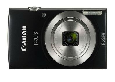 Canon IXUS 185 /Elph 180 Black Digital Compact Camera International Version 0