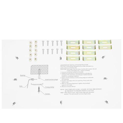 "30"" x 18"" x 9"" Top Mount Drop-In 16 Gauge Stainless Steel Handmade Single Bowl Kitchen Sink 3"