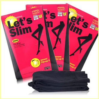 韓國 LASYA LET'S SLIM 機能型提臀塑腿襪 200M【庫奇小舖】