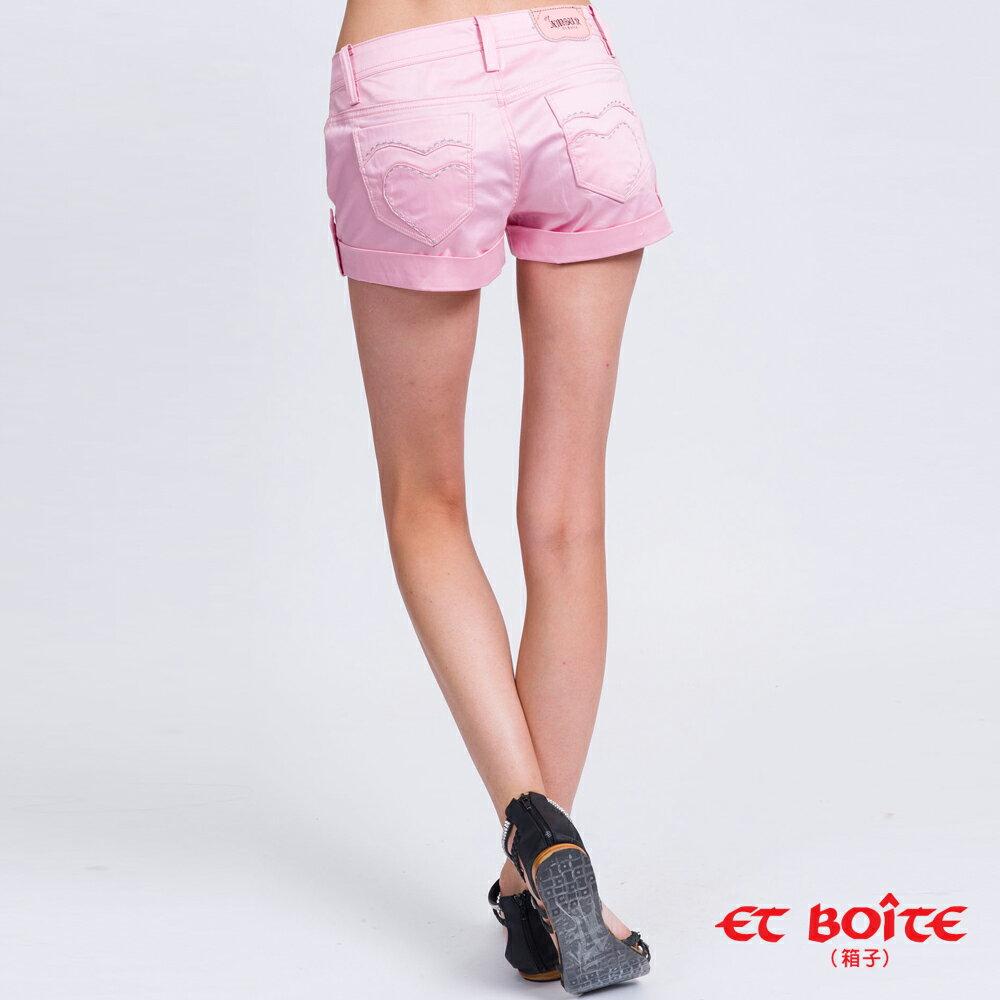 【5折限定↘】ET BOiTE 箱子  Amour心型短褲(粉色) 1