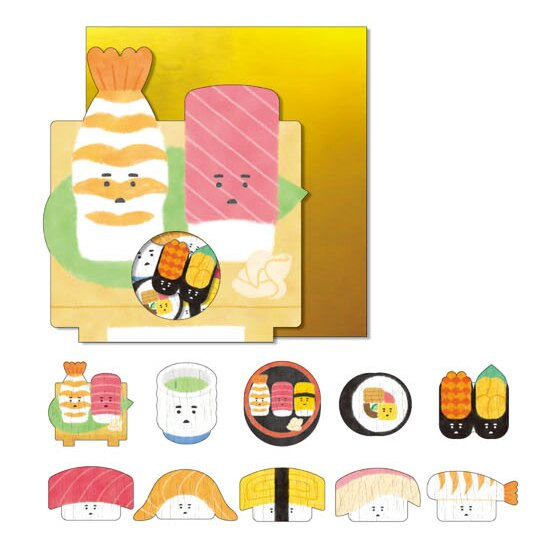 *小徑文化*日本進口 Mind Wave Nippon seal 貼紙包 - 壽司 ( 77850 )