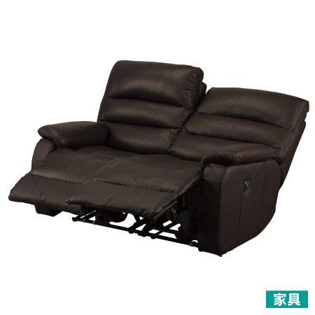 ◎全皮2人用頂級電動可躺沙發 BELIEVER2 DBR NITORI宜得利家居 0