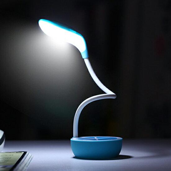 ♚MYCOLOR♚檸檬可彎曲檯燈辦公室床頭臥室檯燈閱讀禮物照明USB宿舍充電【P51】