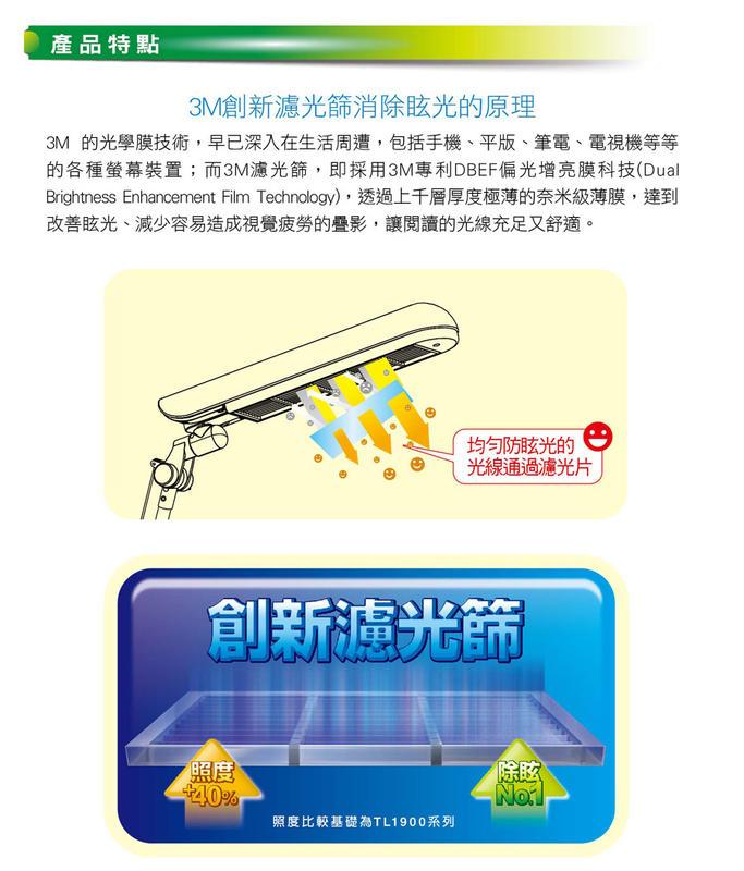 免運費 3M 58° 護眼 博視燈 / 桌燈 / 檯燈 / 抬燈 DL6000 白色 替代LD6000 4
