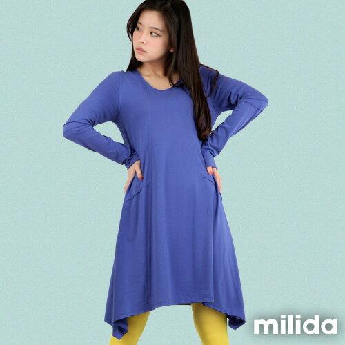 【Milida,全店七折免運】-秋冬單品-洋裝款-長版休閒風 7