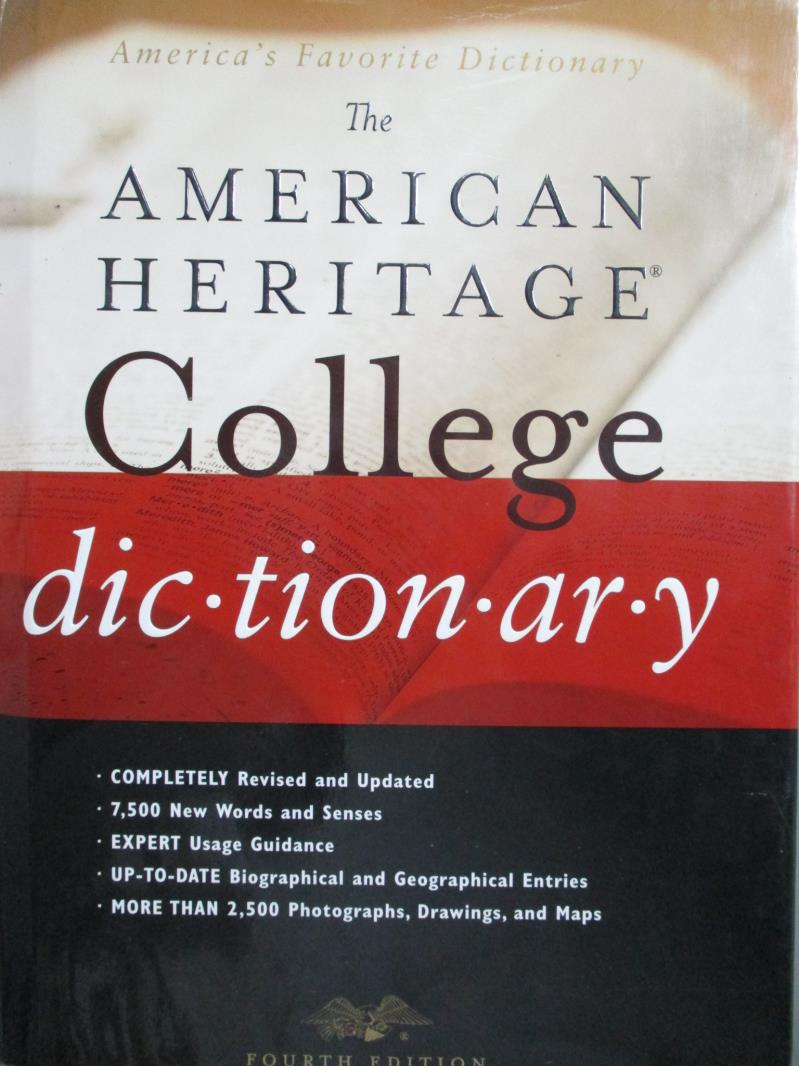 ~書寶 書T7/字典_ZAS~The American Heritage College Dictionary_Ame