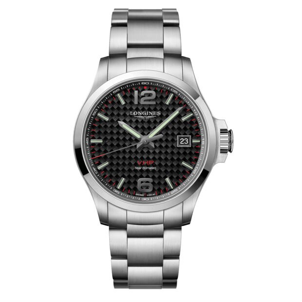 LONGINES 浪琴錶 L37264666 征服者系列 VHP超精準石英萬年曆腕錶/黑面43mm