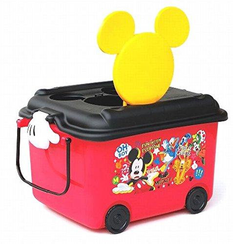 X射線【C312584】預購-米奇Mickey 玩具收納箱(黑紅.家族),分隔箱/玩具箱/置物盒/室內拖收納箱