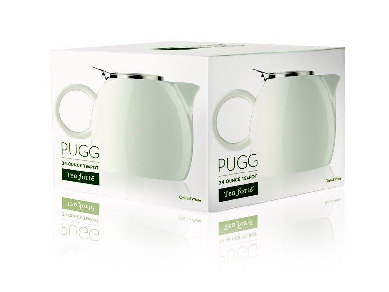 Tea Forte 普格陶瓷茶壺 - 白瓷 Orchid White 2