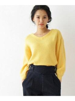 OZOC 羅紋V領混紡 針織衫 上衣 日本必買 日本直送 代購/日貨/雜誌