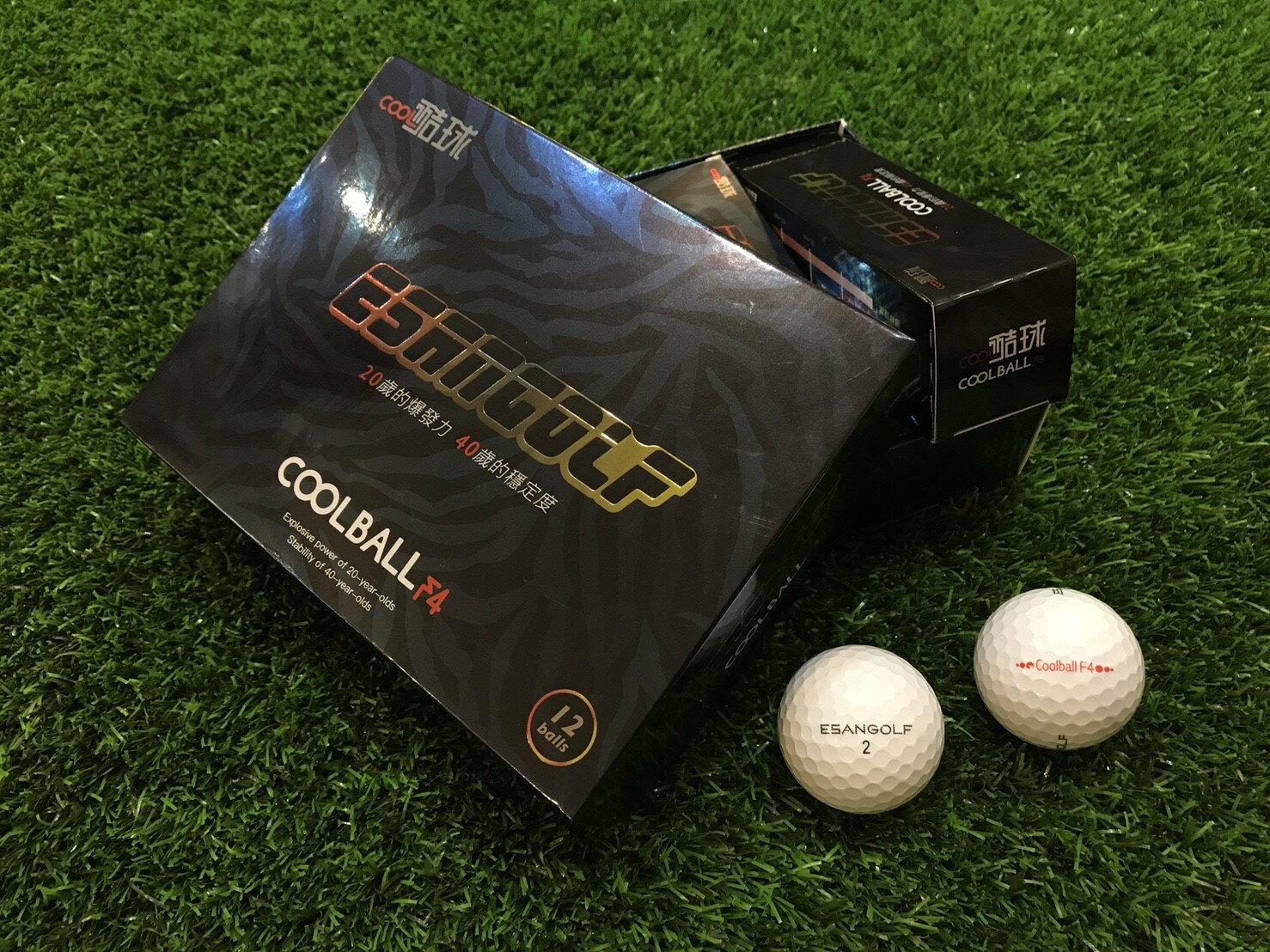 Coolball F4 2040 高爾夫球 ( 一盒裝12入 ) 白色